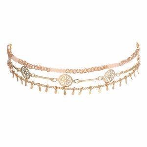 Jewelry - Boho Coin Choker Statement Necklace Set